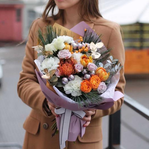 Цвет Нового Года: букеты цветов на заказ Flowwow