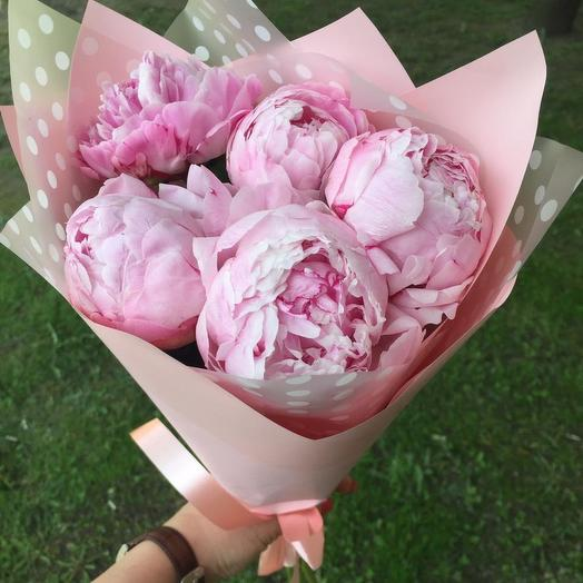 5 сладких пионов: букеты цветов на заказ Flowwow