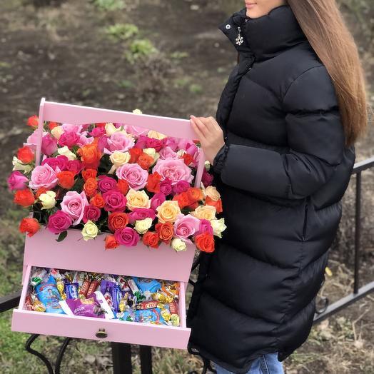 101 роза+сладости