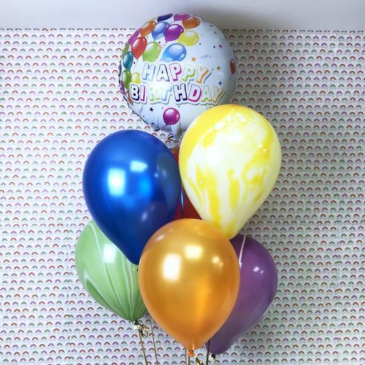 Воздушные шарики на день рождения Happy birthday: букеты цветов на заказ Flowwow
