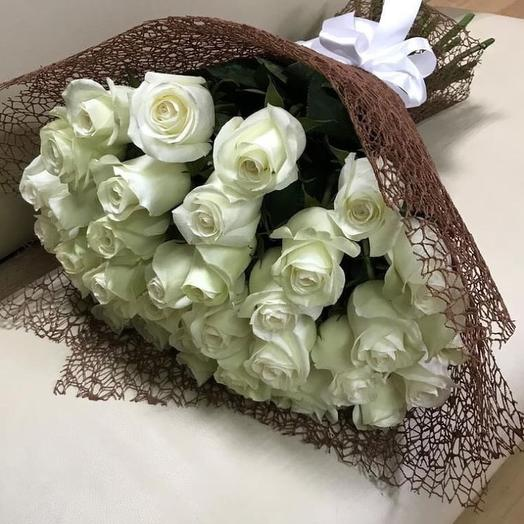 35 белых роз Эквадор
