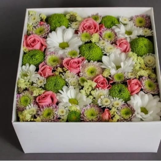 Цветочное пано в коробке