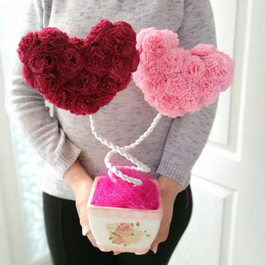 Декоративное дерево 2 сердца