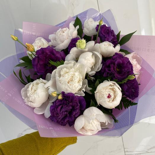 Нежный пион: букеты цветов на заказ Flowwow