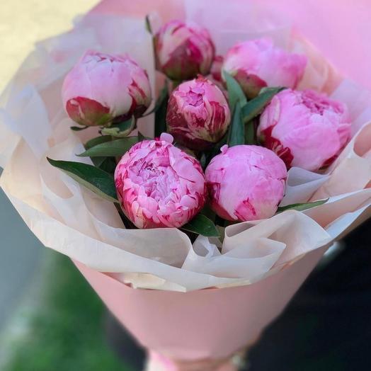 7 Пиончиков Премиум: букеты цветов на заказ Flowwow