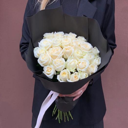 Букет из 25 роз  «White Rose»