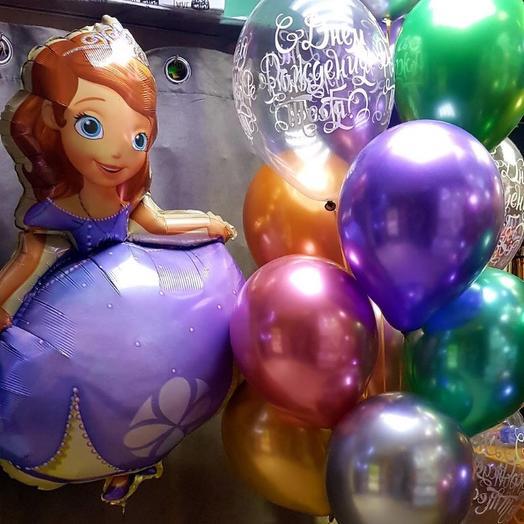 Фонтан из 15 шаров и фигура принцессы Софии