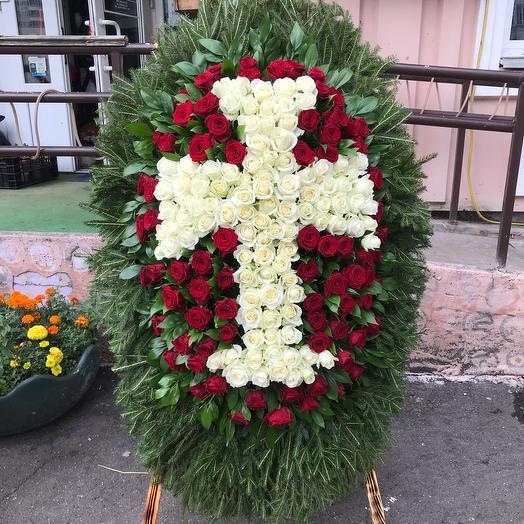Венок «Белый крест»