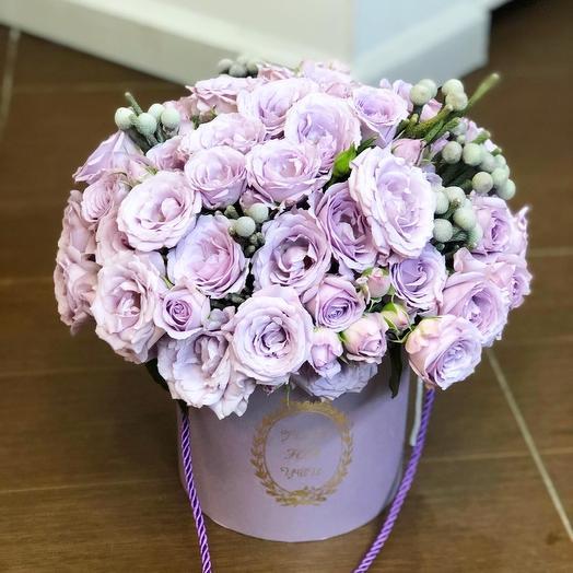Коробка розами