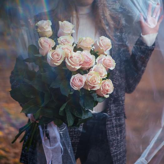 Букет из пятнадцати Эквадорских роз Пинк Мондиаль