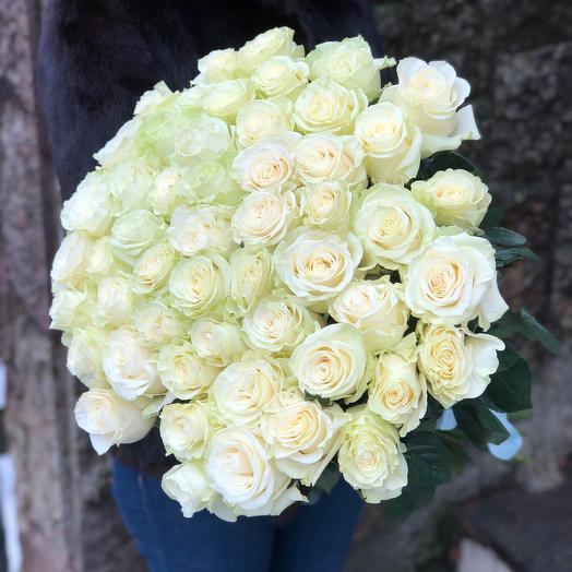 Роза Эквадор белая сорта Мондиаль