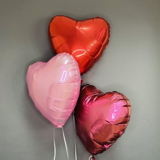 """Набор шаров """"3 сердца"""""""