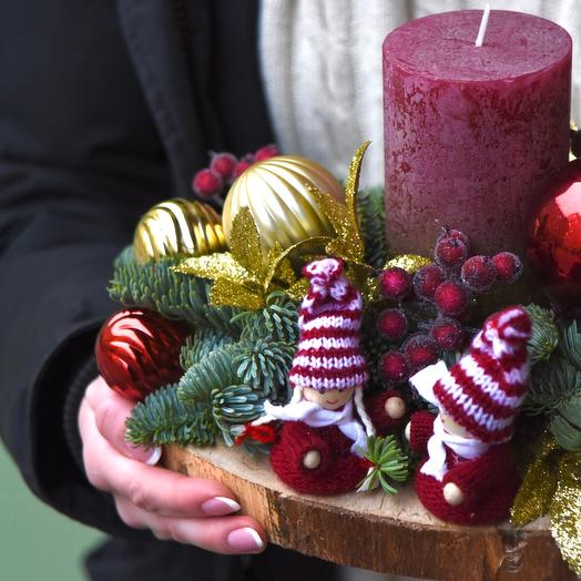 Свеча декоративная праздничная «Кай и Герда»
