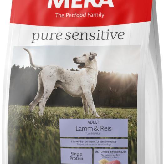 Сухой корм MERA PURE SENSITIVE ADULT LAMM REIS для взрослых собак, с ягненком и рисом 12,5 кг