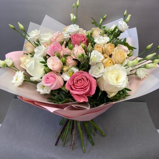 Букет из роз нежный