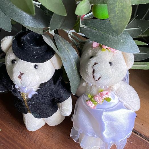Пара Мишка жених и невеста