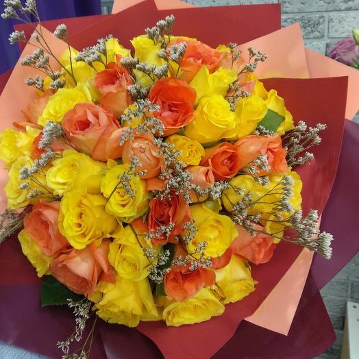 Букет из 47 кенийских роз