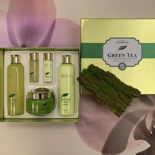 Бьюти-набор Зеленый чай Premium Deoproce Green Tea Essence Moisture Skin Care Set