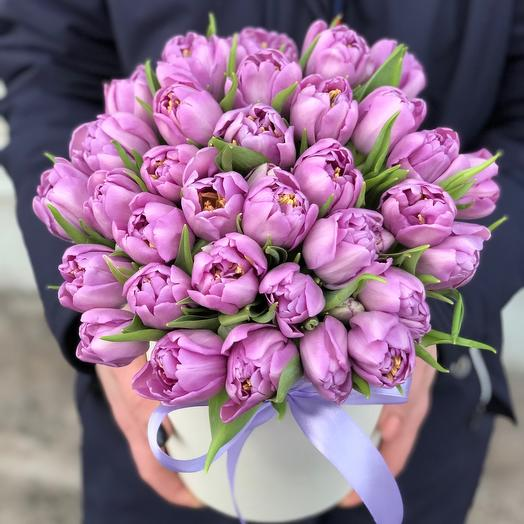 Коробочка Тюльпаны Лавандовые
