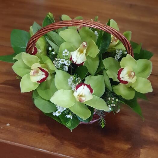 Корзина с орхидей