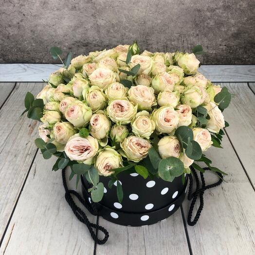 """Коробка из пионовидной розы""""Афродита"""""""