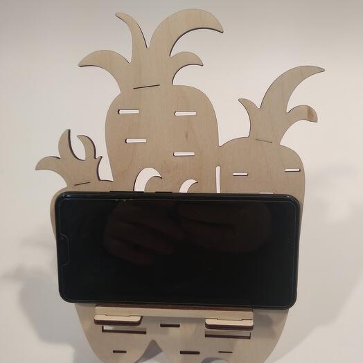 "Подставка под телефон  ""Морковь "" 180x233мм подставка под планшет, подставка под книгу"