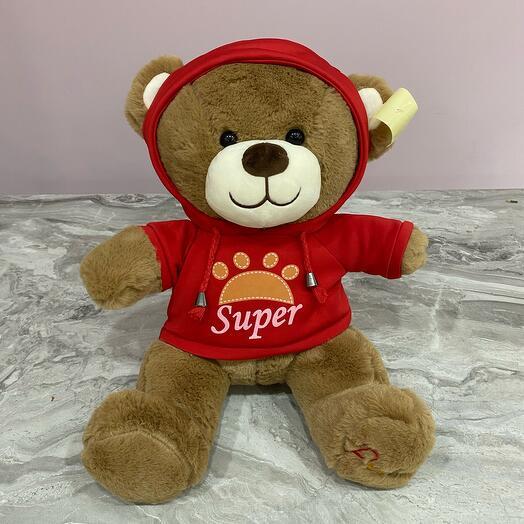 Игрушка Медведь в красном костюме