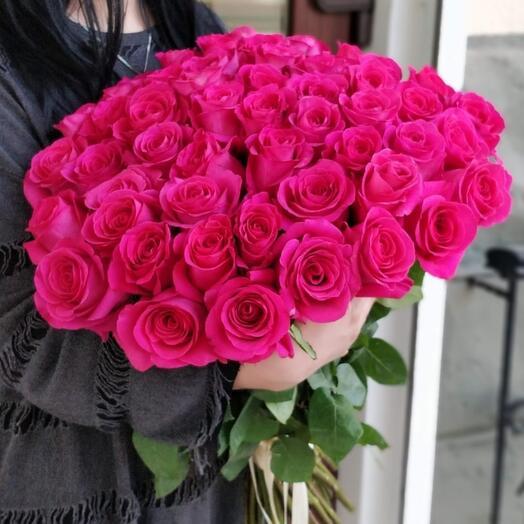 51 розовая роза Pink Floyd