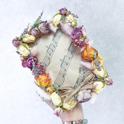 Рамка для фото с сухоцветами
