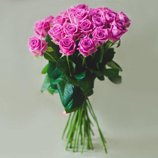 Роза 70см 25шт: букеты цветов на заказ Flowwow