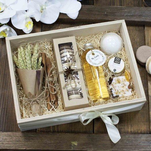WoodBox 33 Арт1649: букеты цветов на заказ Flowwow