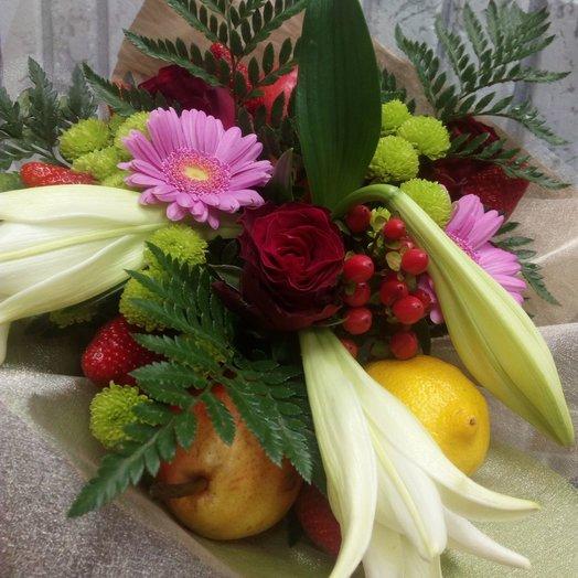 Фруктовый взрыв: букеты цветов на заказ Flowwow