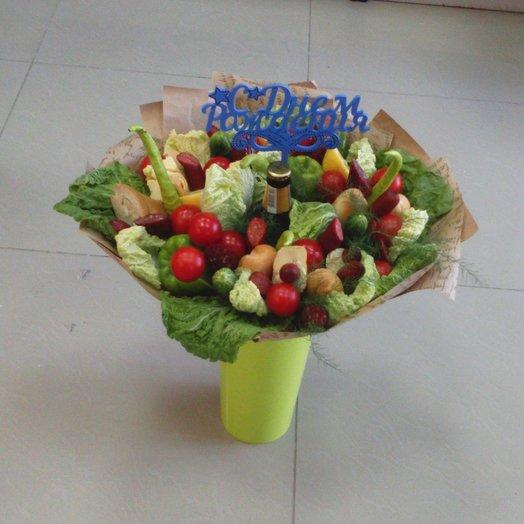 Букет овощной на день рождения мужчине