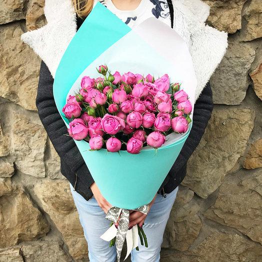 Букет из 19 пионовидных роз Мисти Баблз: букеты цветов на заказ Flowwow