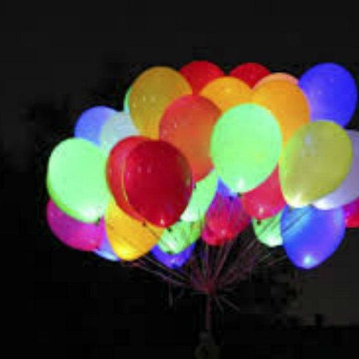 Светящиеся шарики 30 шт: букеты цветов на заказ Flowwow
