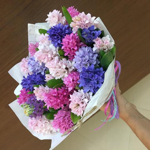 Гиацинты 25 штук: букеты цветов на заказ Flowwow