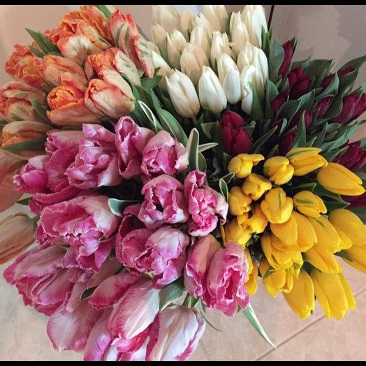 101 тюльпан : букеты цветов на заказ Flowwow