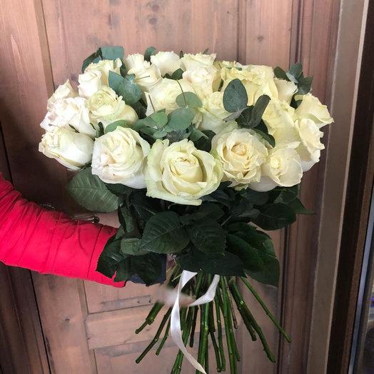 """Букет из цветов """"21 белая роза"""""""