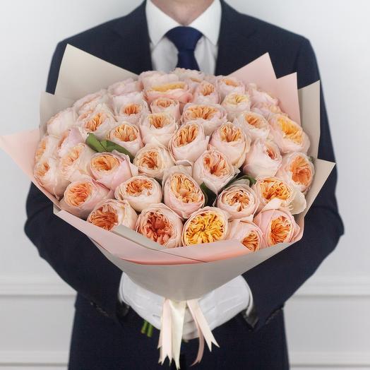 Букет из 55 пионовидных роз Juliet: букеты цветов на заказ Flowwow