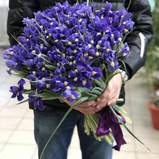 Букет синих ирисов: букеты цветов на заказ Flowwow