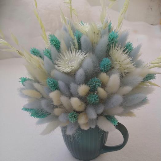 Букет лагуруса в кружке: букеты цветов на заказ Flowwow