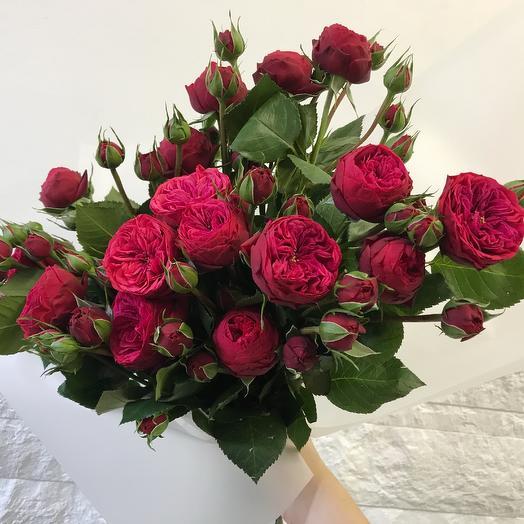 Пионовидные розы Red Piano: букеты цветов на заказ Flowwow