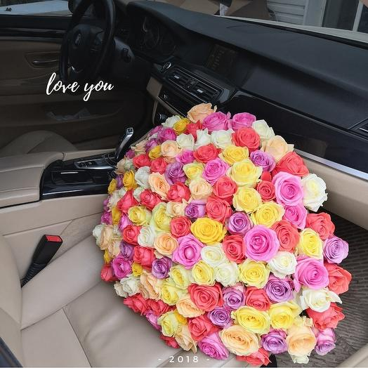 Микс роз: букеты цветов на заказ Flowwow