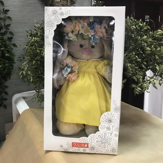 Игрушка заяц в коробке: букеты цветов на заказ Flowwow
