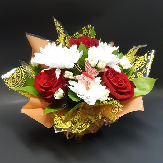 Композиция Полянка: букеты цветов на заказ Flowwow