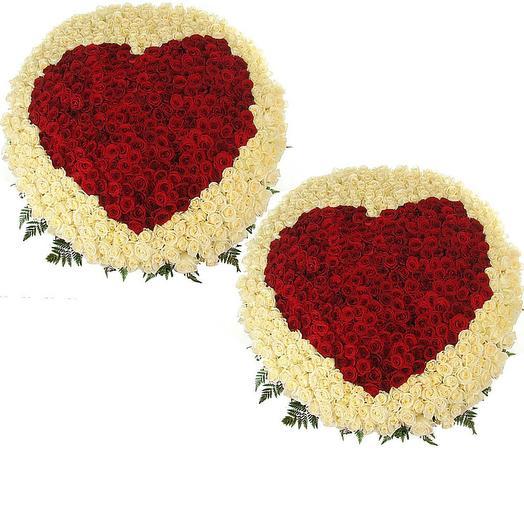"""Сердце из роз """"Вместе навсегда """": букеты цветов на заказ Flowwow"""
