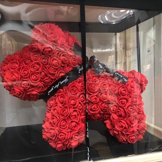 Собачка из роз: букеты цветов на заказ Flowwow