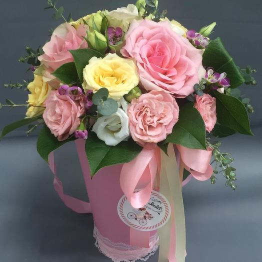 Прекрасный подарок из роз: букеты цветов на заказ Flowwow