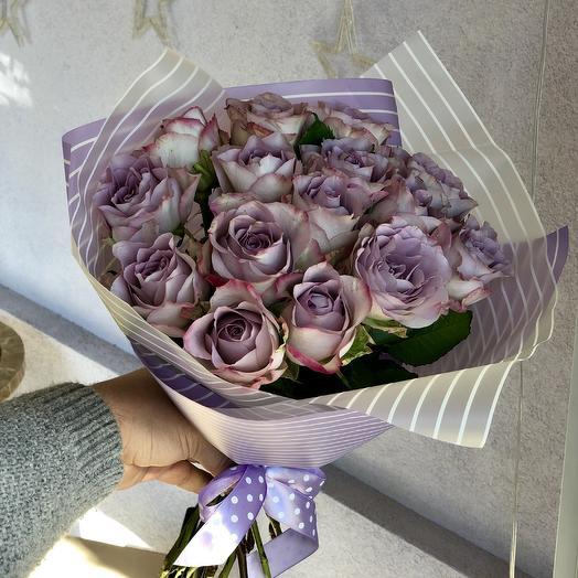 Букет Лавандовых роз: букеты цветов на заказ Flowwow