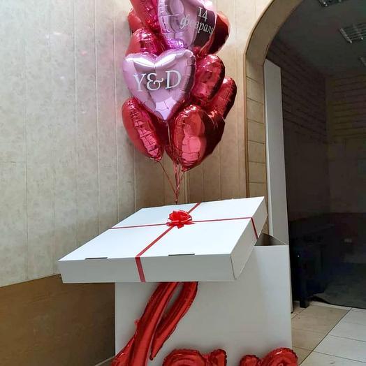 Коробка с 8 сердцами